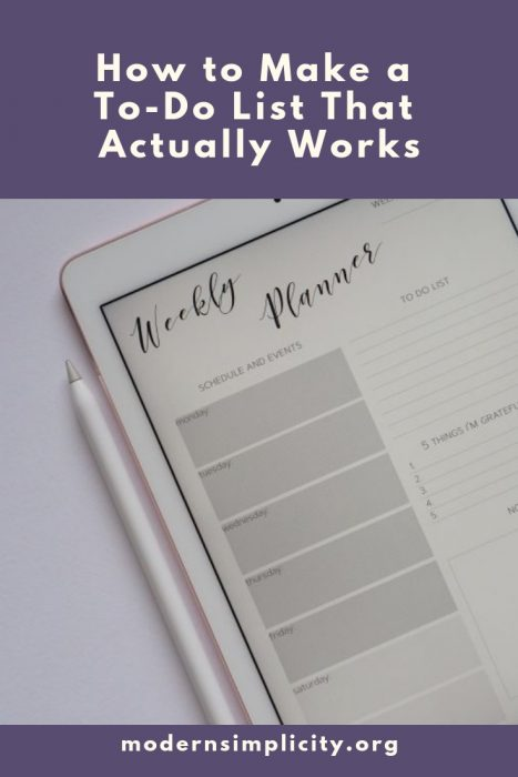 How to Make a To-Do List That Actually Works
