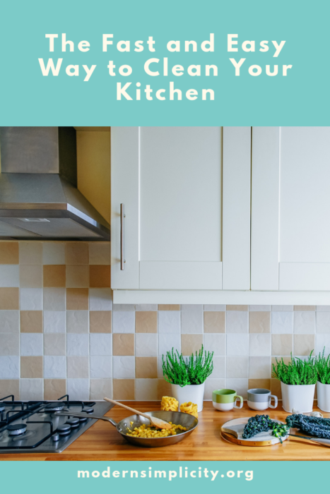 The Fast and Easy Way to Clean Your Kitchen