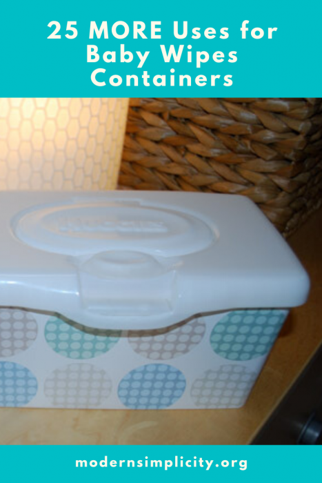 25 MORE Uses for Baby Wipes Containers
