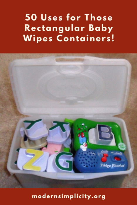 50 Uses for Those Rectangular Baby Wipes Containers!