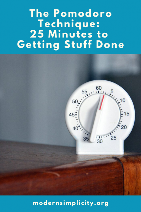 The Pomodoro Technique: 25 Minutes to Getting Stuff Done